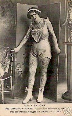 Tattooed Lady La Salome