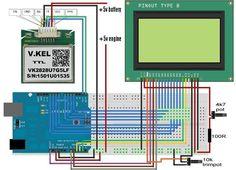 Arduino GPS speedometer with a ks0108 - 128x64 GLCD (display)