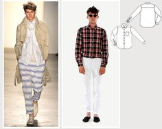 Sewing for Men – Sewing Blog   BurdaStyle.comawful styles but good sewing tips...