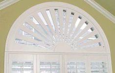 plantation blinds for half circle window Arched Window Coverings, Arched Windows, Blinds For Windows, Windows And Doors, Door Coverings, Window Blinds, Half Circle Window, Half Moon Window, Custom Shutters