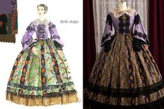 Up Close with the Elaborate Civil War–Era Costumes of Mercy Street Period Costumes, Movie Costumes, Mercy Street Pbs, Mary Todd Lincoln, Hoop Skirt, Victorian Fashion, Costume Design, Gowns, Wedding Dresses