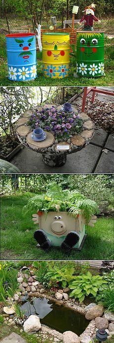 Veg Garden, Garden Beds, Tyre Ideas For Kids, Brick Patios, Enchanted Garden, Plantation, Garden Crafts, Hobbies And Crafts, Yard Art