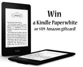 Kindle Paperwhite or $119 Amazon Giftcard Giveaway - Giveaway Promote