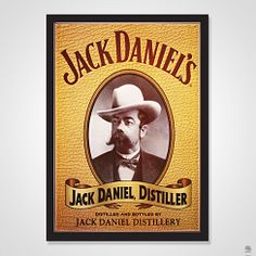 QUADRO JACK DANIEL'S COM VIDRO