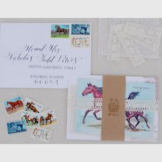 Stamps for wedding invitations