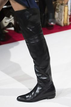 ❤️ flat over the knee boots  Alexis Mabille at Paris Fashion Week Fall 2017 - Details Runway Photos