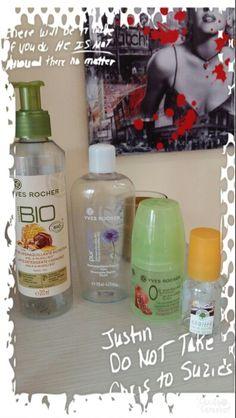 Prodotti YR Finiti Aprile 2016: - Latte Detergente Bio - Struccante Occhi Bifasico - Deodorante Melagrana di Spagna - Profumo Vaniglia 20 Ml..
