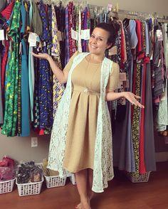 LuLaRoe Amelia dress and Joy cardigan Vest  Check us out on - instagram…