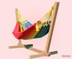 Rainbow Baby Hammock colour #2  http://www.maranonhammocks.ie/baby-and-kids-hammocks