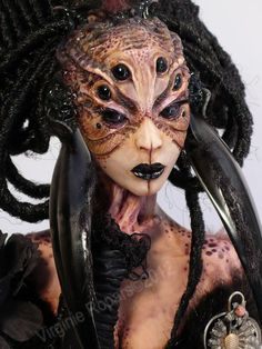 VIRGINIE ROPARS  Not sure if ball jointed but love the sculpting and the makeup on the doll.