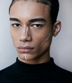 Trendy Skin Photography Male Faces 43 Ideas What is Makeup ? What's Makeup ? Male Makeup, Makeup Art, Beauty Makeup, Men With Makeup, Makeup Inspo, Makeup Inspiration, Engel Make-up, Futuristic Makeup, White Makeup