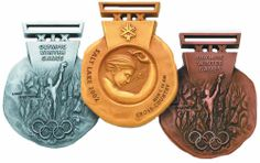 Winter Olympic Games medals from Salt Lake City 2002.