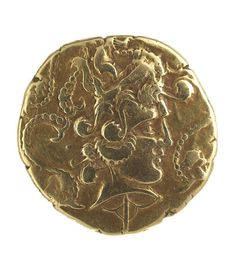 Gold stater of the Venetiabout 200-100 BC. Celtic. unknown   Northwestern Gaul, modern France   Royal Ontario Museum