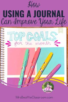 Keeping a daily journal is an excellent way to focus on gratitude, get organized, and set goals. Take a look at this post for great product choices, inspiring journaling ideas, and grab a FREE printable month-long journaling challenge! Weekly Planner, Life Planner, Planner Layout, Daily Journal, Cool Writing, Day Plan, Personal Goals, Teaching Strategies, Classroom Resources