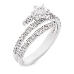 18 CARAT WHITE GOLD DIAMOND RING This is so stunning that I kept enlarging it to see the detail! How elegant I will feel wearing this!