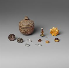 Reliquary with Contents, Pakistan, 1st Century. (Suggests  creating contemporary vessels containing personal items)