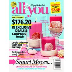 2-Year All You Magazine Subscription : Only $15 (reg. $39.82)  http://www.mybargainbuddy.com/all-you-magazine-subscription-15-84