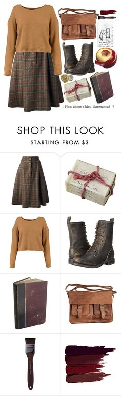 """The Book Thief"" by hashtaghashbrown ❤ liked on Polyvore featuring Krizia, Frye, Rowallan, MAKE UP FOR EVER, Serge Lutens, thebookthief, BookThief and lisel"