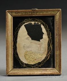 Silhouette Portrait of a Woman Wearing a Yellow Dress | Sale Number 2558M, Lot Number 355 | Skinner Auctioneers