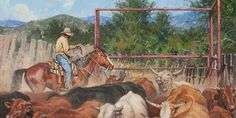 """""""Tight Rope Act"""" by Steve Atkinson 14X28, oil"""