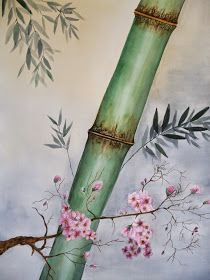 Acuarela- nihonga Japanese Bamboo, Bamboo Art, Art Painting Gallery, Japan Art, Painting Patterns, Chinese Art, Painting Inspiration, Art Lessons, Watercolor Paintings