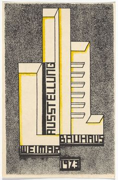 Farkas Molnar. Bauhaus Ausstellung Weimar Juli–Sept, 1923, Karte 17. 1923. Lithograph, 5 7/8 × 3 15/16″ (15 × 10 cm). Committee on Architecture and Design Funds. Photo: John Wronn