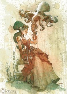 """""""Otto and Victoria"""" art by Brian Kesinger"""