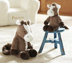 Horse Plush Boots | Pottery Barn Kids