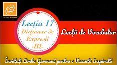 Lecția 17 - Dicționar de Expresii 3   - Lecții de Vocabular in Limba Germană - YouTube Chart, Youtube, Youtubers, Youtube Movies