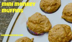 When faced with a snack dilemma, I made some healthy Mini Monkey Muffins (banana and coconut) for my little Monkeys!