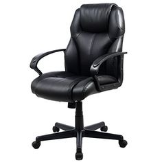 goplus morden pu leather ergonomic high back executive computer desk task office chair black