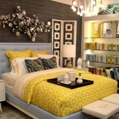 guest bedroom ideas | guest bedroom idea!:) | Bedroom Ideas... I love the shelf idea and lighting.