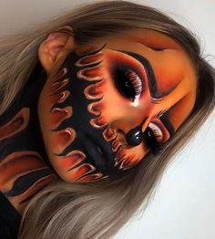 Halloween Makeup - Makeup looks - halloween schminke Halloween Makeup Clown, Amazing Halloween Makeup, Clown Makeup, Halloween Makeup Looks, Halloween Halloween, Halloween Costumes, Costume Makeup, Witch Makeup, Easy Costumes