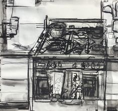 John Bokor – Works on Paper Figure Drawing, Painting & Drawing, Thumbnail Sketches, Drawing Projects, Diy Projects, Drawing Sketches, Drawings, Charcoal Art, Street Gallery