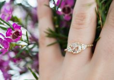One of the most beautiful rings I've ever seen!! Mila Rose Cut Moissanite Three Stone Ring by S. Kind & Co.