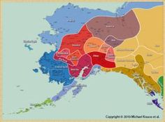 Indigenous Peoples and Languages of Alaska [map] American Spirit, Native American Art, Tlingit, Indian Heritage, Alaska Travel, Historical Pictures, First Nations, North America, Nativity