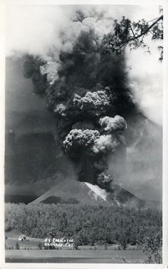 Paricutin volcano erupting - Mexico - very similar to the volcanoes I will be studying for my undergrad research this year
