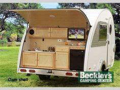 Teardrop Campers Trailer Transit Camper Ford Camping Trailers Tear Drops Rv Living Van Caravan