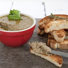 This Mushroom Pate with Truffle Oil is an indulgent yet healthy way to start a dinner party. The aroma is amazing! Vegan, GF and DF