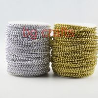 4mm gold and silver ABS pearl flower String / Garland for XMAS wedding decor / DIY accessories 2roll/lot  -Free shipping Pearl Garland, Pearl Flower, Diy Wedding Decorations, Diy Accessories, Party Supplies, Baby Shoes, Abs, Free Shipping, Pearls