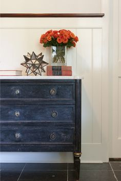 worn black dresser and it looks great!