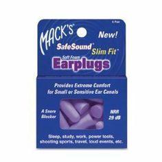 Macks Safe Sound Slim Fit Soft Foam Ear Plugs. #SleepAccessories