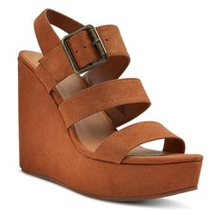 Women's Brandi Quarter Strap Sandals - Cognac (Red)