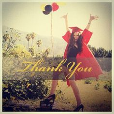 Thank you cards for high school graduation by Elaine Edwards Photography and Design