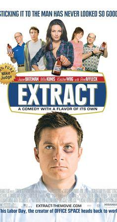 Extract (2009) USA D/Sc: Mike Judge. Jason Bateman, Kristen Wiig, Ben Affleck, Mila Kunis, JK Simmons, David Koechner, Gene Simmons. (4/10) 01/07/15