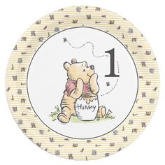 Winnie the Pooh Watercolor First Birthday Paper Plate Baby Birthday Themes, Boy Birthday Invitations, Boy Birthday Parties, Baby Shower Parties, Girl Birthday, Cute Winnie The Pooh, Winnie The Pooh Birthday, Paper Plates, First Birthdays