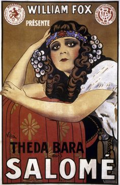 French poster for Salome starring Theda Bara (1918)