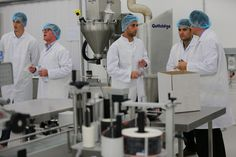 Players from Brighton Hove Albion FC #BHAFC get to grips with the manufacturing process #TeamReflex