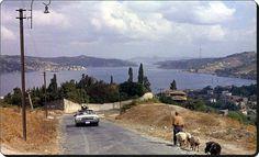 Üsküdar sırtlarından Boğaziçi - 1964