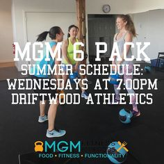Our new summer #MGM6pack class schedule is set at 7pm on Wednesdays at @driftwoodathletics! Get your strength training on with me every week!  by mgmfit_mandy